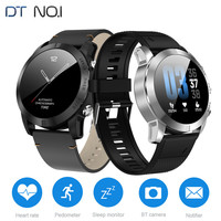 DT NO.I S10 Smart Watch 1.3 Inch Waterproof IP68 Heart Rate Monitor Step Count Sedentary Reminder 350mAh Built In Smartwatch