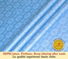 Базен Riche ткань (как Австрия Getzner качество) жаккардовые ткани парча в Гвинейском стиле 100% хлопок Shadda используется для Дашики Платье