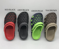 MAN BEACH SHOES ULTRALIGHT WEIGHT SOLID OUTDOOR GARDEN CLOGS SANDALS FOR MEN SIZE 40 41 42 43 44 45 BLACK RED GREEN BROWN