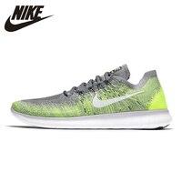 Nike FREE RN FLYKNIT оригинальная Мужская обувь для бега Удобная уличная спортивная обувь Легкие дышащие кроссовки #880843