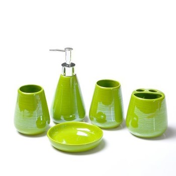 European Bathroom Five Sets Of Ceramic Bath Set Lotion Bottle Supplies Simple Toothbrush Holder Soap Dish Bath Accessori