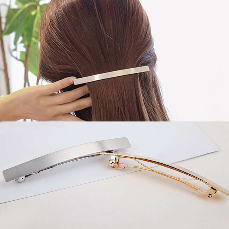 Fashion 1PC Geometric Line Metal Barrettes Girls Metal Smiple Hair Clip   Headwear   Drop Shipping