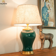 лучшая цена Modern Chinese Table Lamp For Bedroom Bedside Lamps Table Living Room Vintage Lamp For Decoration Ceramic Antique Luminaire