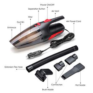Image 5 - Portable 4m Cord length Handheld Car Vacuum Cleaner Wet/Dry Vaccum Cleaner for Car Home 120W 12V 5000PA