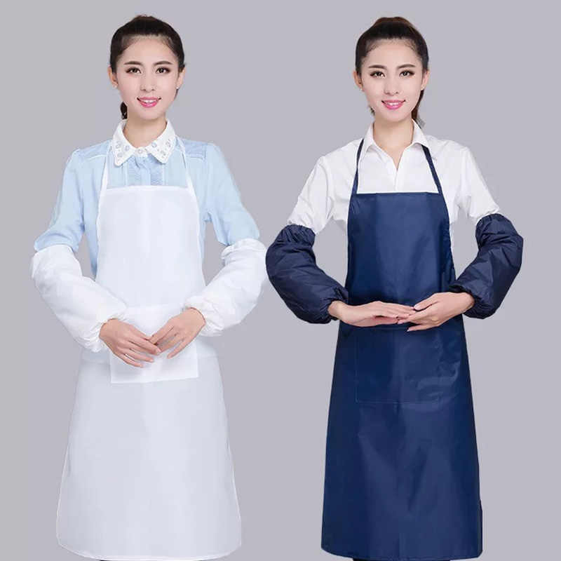 Adult Korean style apron Kitchen waterproof apron Waterproof Apron Home Kitchen Restaurant Bib Pocket Cooking Dress5