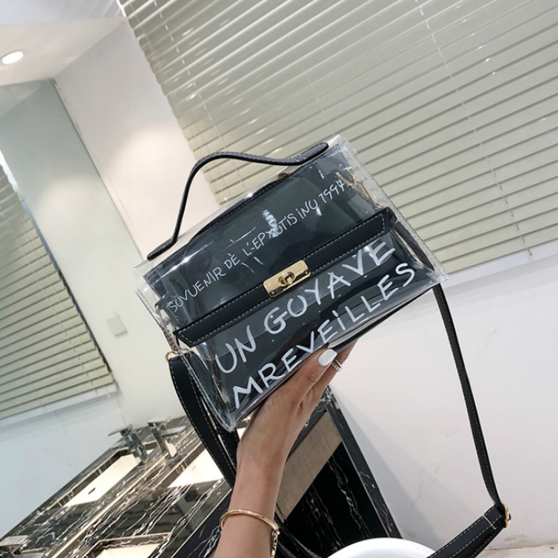 Anderi 2019 Design Luxury Brand Women Transparent Bag Clear PVC Jelly Small Tote Messenger Bags Female Crossbody Shoulder Bags
