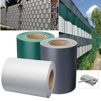 PVC Garden Fence Private Screen Roll 19cmx35m Balcony UV Resistant Sunscreen Shade Awning Yard Decoration 3 Colors Waterproof