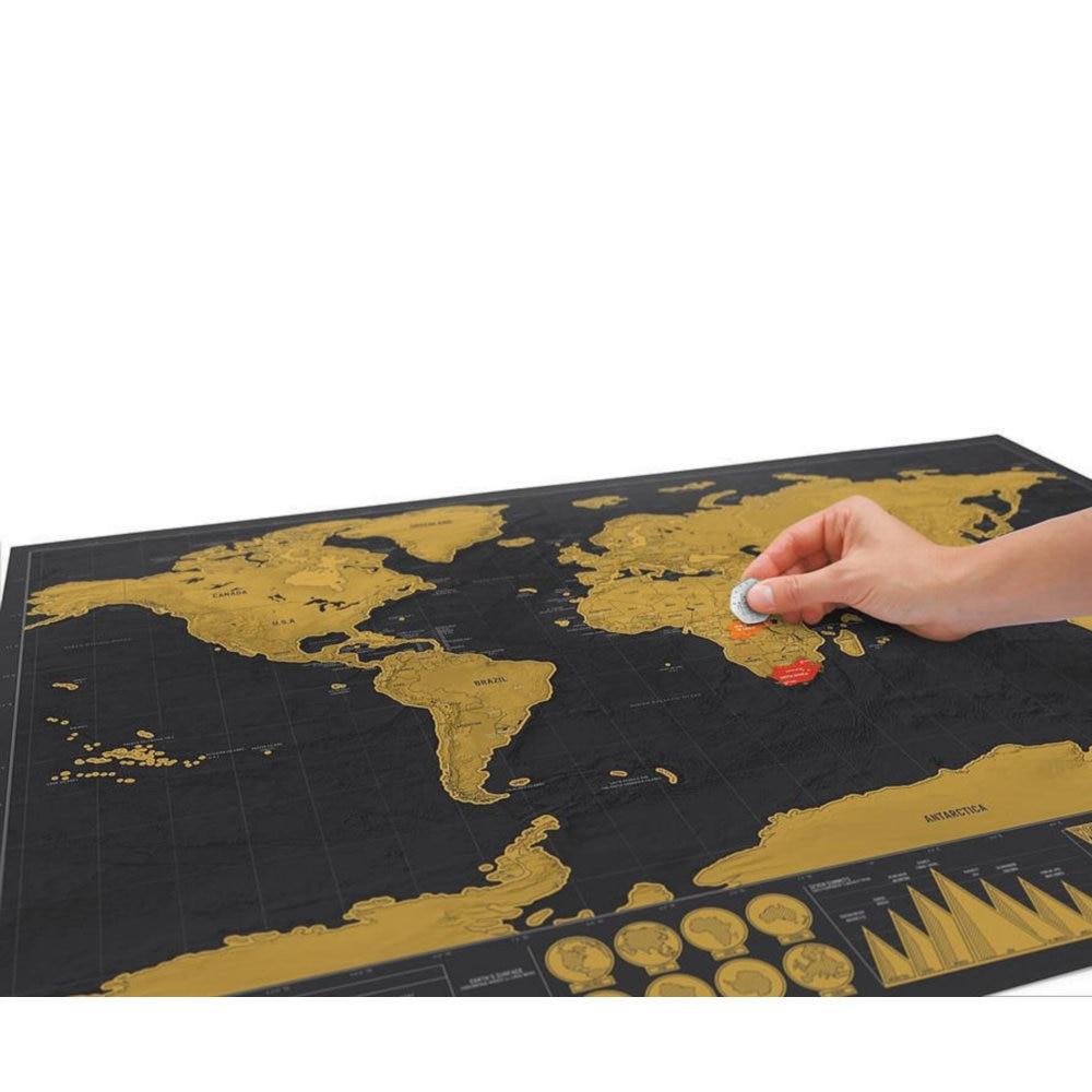 World Map Travel Scratch Off 1