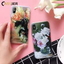 CASEIER Flower Paint TPU Phone Case For Huawei P20 P20 Lite P10 P9 P8 Soft Case For Huawei P10 P9 P8 lite Honor 8 9 9 lite Case(China)