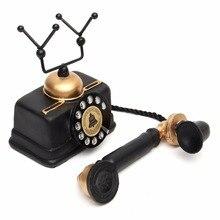 1 unidad de estatua de teléfono rotatoria Vintage MODELO DE figura de decoración de teléfono antiguo desgastado
