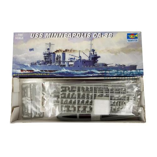 Trumpeter 05744 <font><b>1</b></font>/<font><b>700</b></font> <font><b>Scale</b></font> USS Heavy Cruiser Minneapolis CA-36 1942 <font><b>Model</b></font> <font><b>Ship</b></font> image