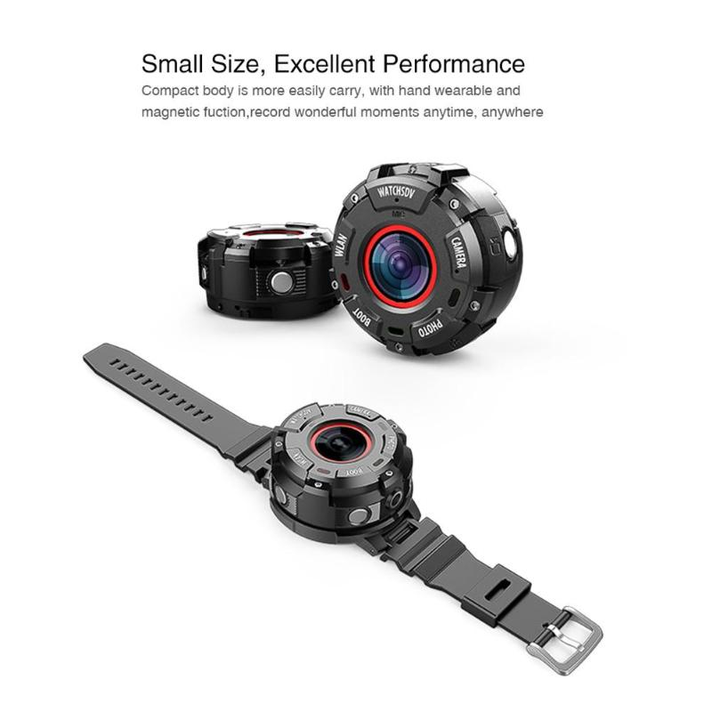цена на ALLOYSEED Smart Sport Watch S222 Mini 30m Waterproof Full HD 1080P 8MP Sport DV WIFI Night Vision Outdoor Action Camera