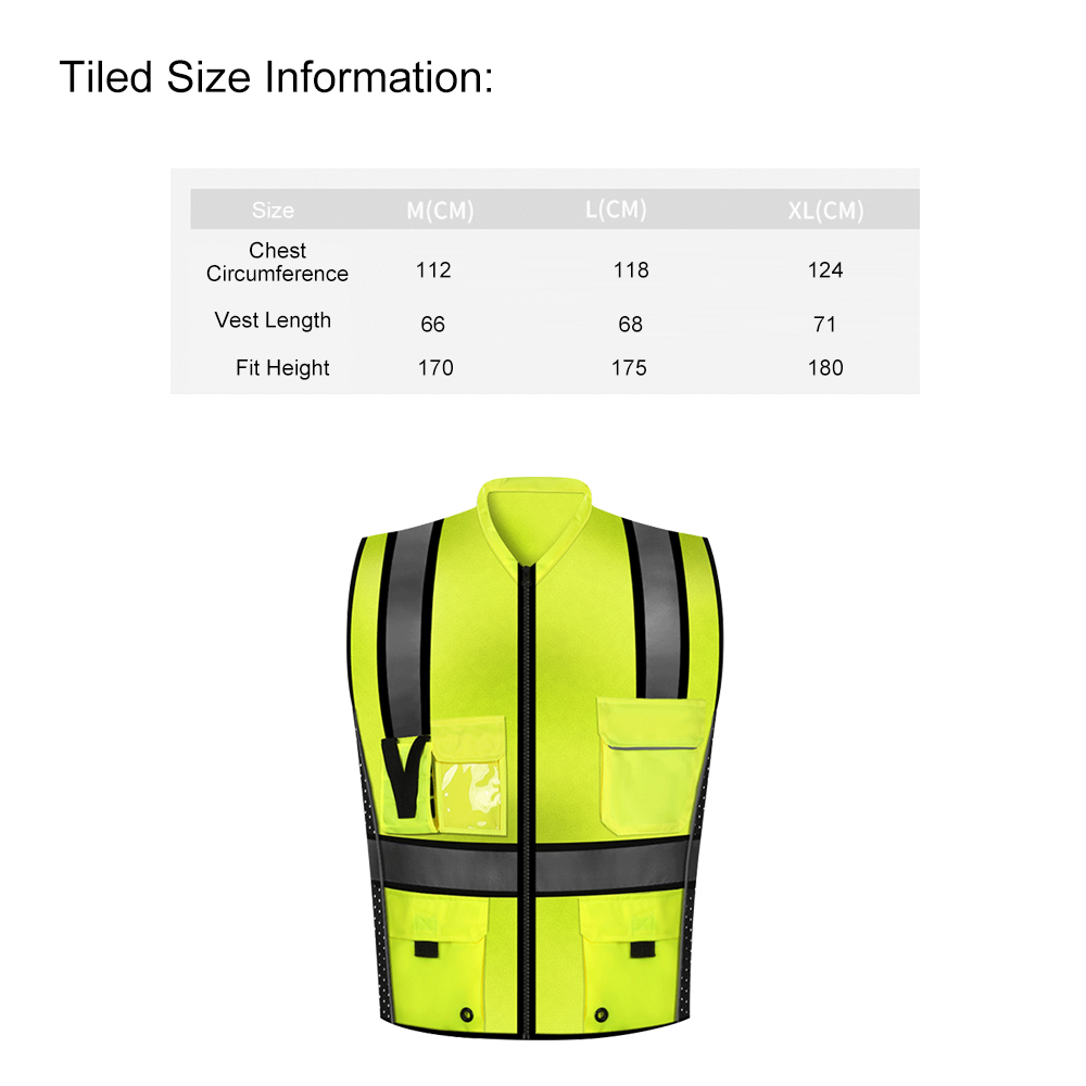 Image 2 - SFVest High Visibility Reflective Safety Vest Reflective Vest Multi Pockets Workwear Security Working Clothes Safety WaistcoatSafety Clothing   -