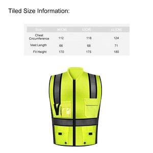 Image 2 - SFVest Hoge Zichtbaarheid Reflecterende Veiligheidsvest Reflecterende Vest Multi Pockets Werkkleding Security Werken Kleding Veiligheid Vest