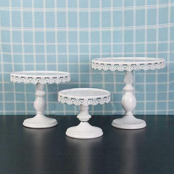 Cake Stand Wedding Decoration Supplies Crystals Cupcake Tower Stand Kitchen Plates Set Metal Round Party Dessert Display Tray white crystal metal cake stand set cupcake rack dessert display holder party wedding table decorations
