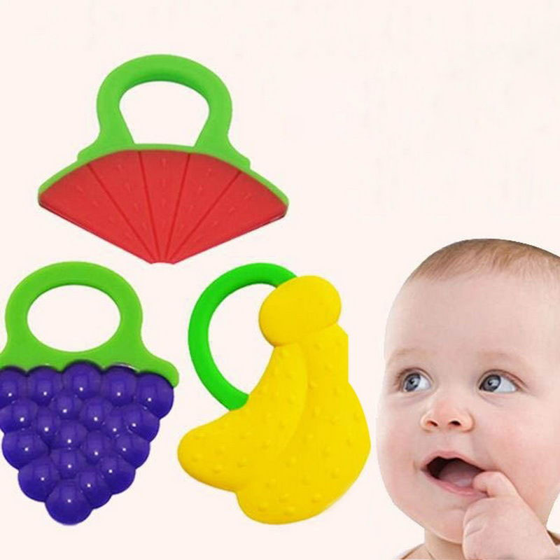 Baby Teether Fruit Shape Stick Chews Silicone Baby Dental Care Toothbrush  Toddler Training Teething Ring Toys For Kids Teether-in Baby Teethers from  Mother ... 6f6639f9a