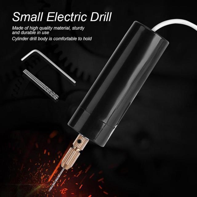 Llave eléctrica de taladro manual 5 v orificio de Motor de mano eléctrico Mini taladro USB 3 piezas