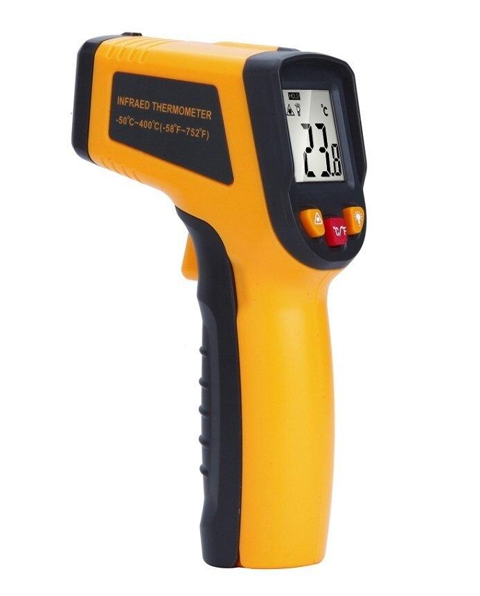 Image 4 - Цифровой термометр бесконтактный инфракрасный температурный  пирометр ИК лазерный точечный пистолет 50 ~ 400 градусов тепловизор  метеостанцияweather stationpoint gunnon contact infrared -