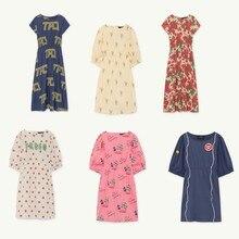 Kids Dress 2019 TAO Spring Summer Girls Short Sleeve Flower Print Princess Dresses Baby Children New Letter Cotton Clothes