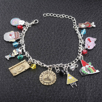 Wellcomics Gravity Falls Dipper Mabel Pines Bill Cipher Waddles Metal Pendant Charm Hand Ring Chain Bracelet Wristband Jewelry Ожерелье