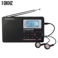 RETEKESS V111 Портативный FM компактное минирадио стерео МВт SW LW Портативный радио полный диапазон коротковолновой приемник 9 кГц 10 кГц сигнала ау...