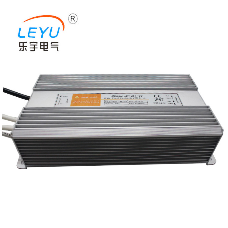 цена на CE Rohs approved waterproof 250w 110v 220v ac to dc 24v power supplies