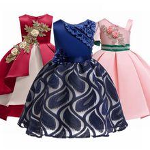 цена на Kids Dresses for Girls Summer Flower Girls Dress Girl Clothing Sleeveless Princess Dresses Christmas Girl Costume Kids Clothes
