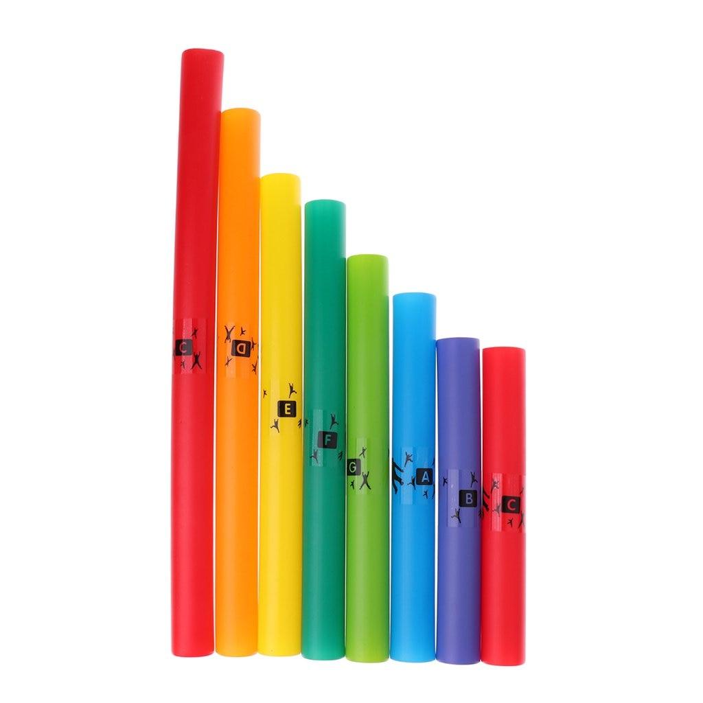 8-Notes Tube échelle diatonique ensemble Instrument de musique développement sensoriel apprentissage précoce jouets éducatifs pour enfants en bas âge enfants