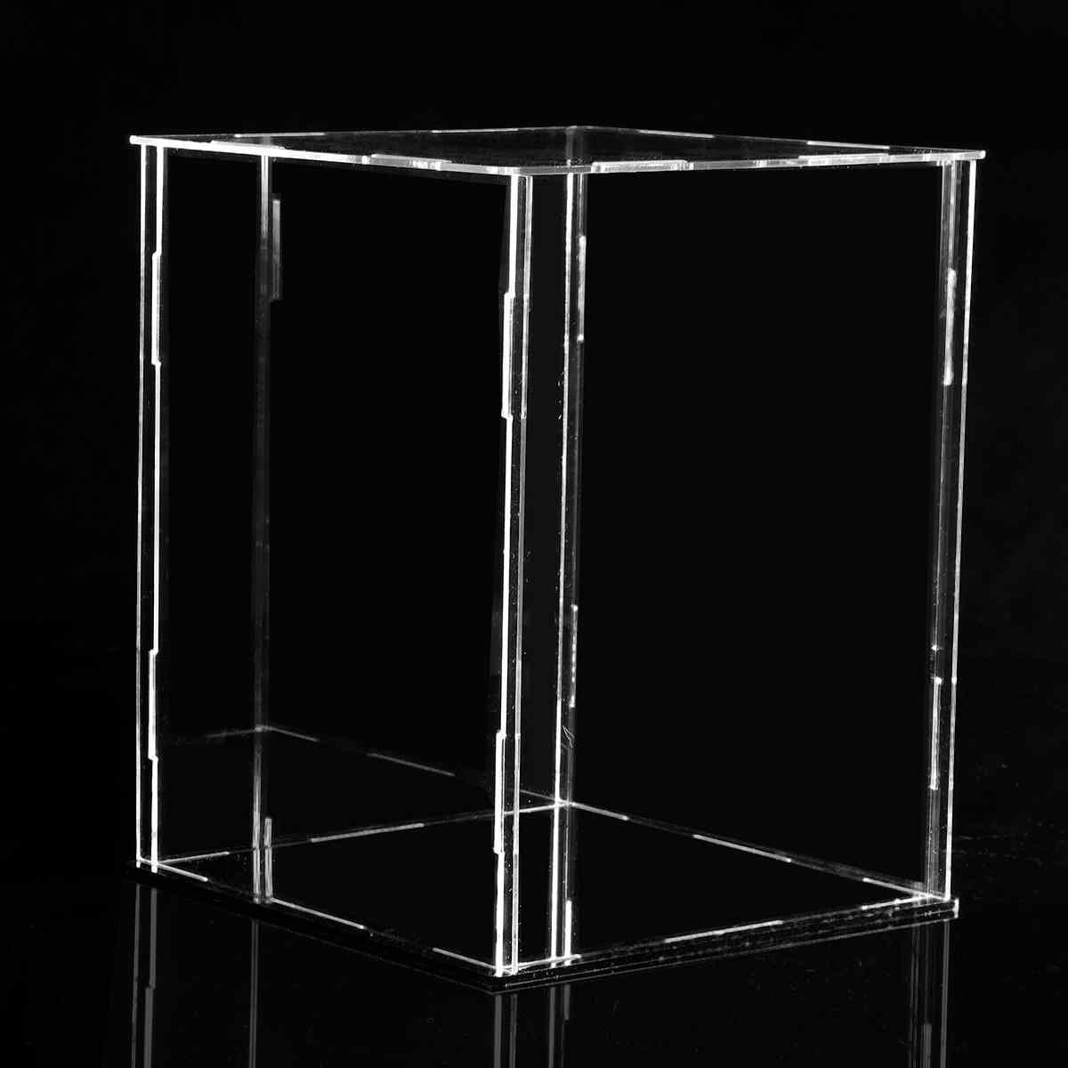 4 размера акриловый дисплей шоубокс чехол куб игрушка пыленепроницаемый лоток защита дисплей собранная Коробка Чехол для детские игрушки; конструктор
