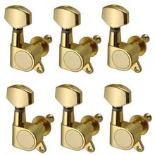 Zinc Alloy 6R Guitar Tuning Peg Tuner Enclosed Samll Square Heads For Acoustic Electric 35*22*40 mm