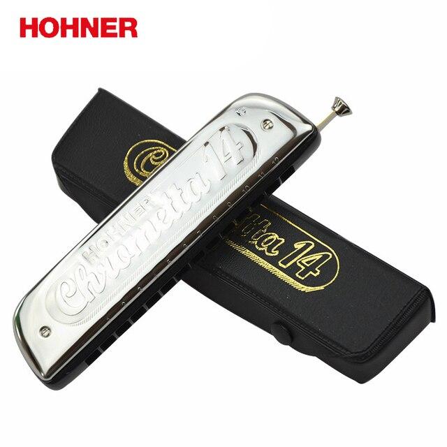 Hohner 257 14หลุมChromatic Harp Chrometta 14 Harmonica,คีย์C Major