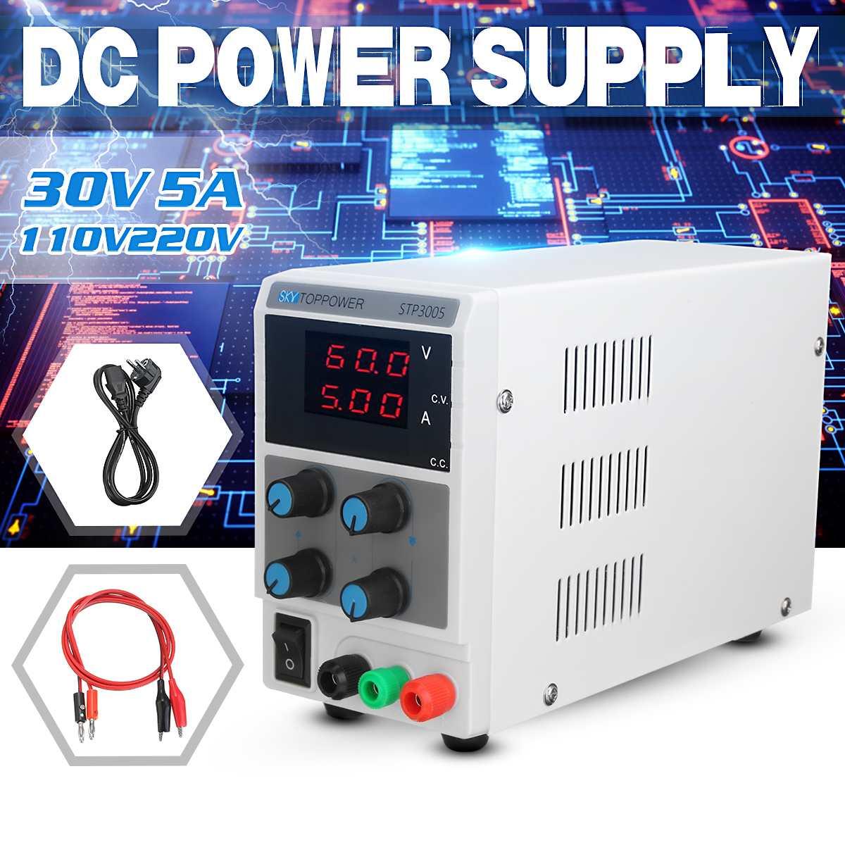 Régulateur de tension 30 V 5A LED régulateur de commutation réglable PWM alimentation cc réparation pour ordinateur portable reprise 110 v-220 v