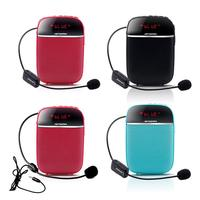 For APORO T2 Portable Wireless Bluetooth Speaker With Microphone Radio Music Play Support TF Card Speakers Teacher Guide Waist
