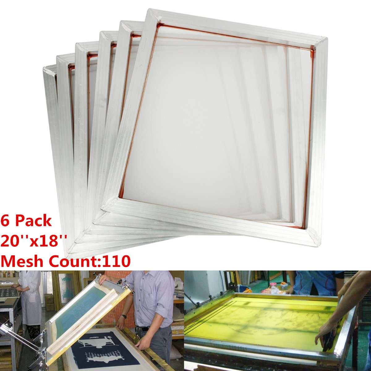 6 pièces/ensemble 45x50 cm cadre en aluminium sérigraphie cadre de presse 110 maille blanche compte pour cartes de circuits imprimés de haute précision