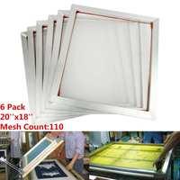 6Pcs/Set 45x50cm Aluminum Frame Silk Screen Printing Press Frame 110 White Mesh Count for High precision Printed Circuit Boards