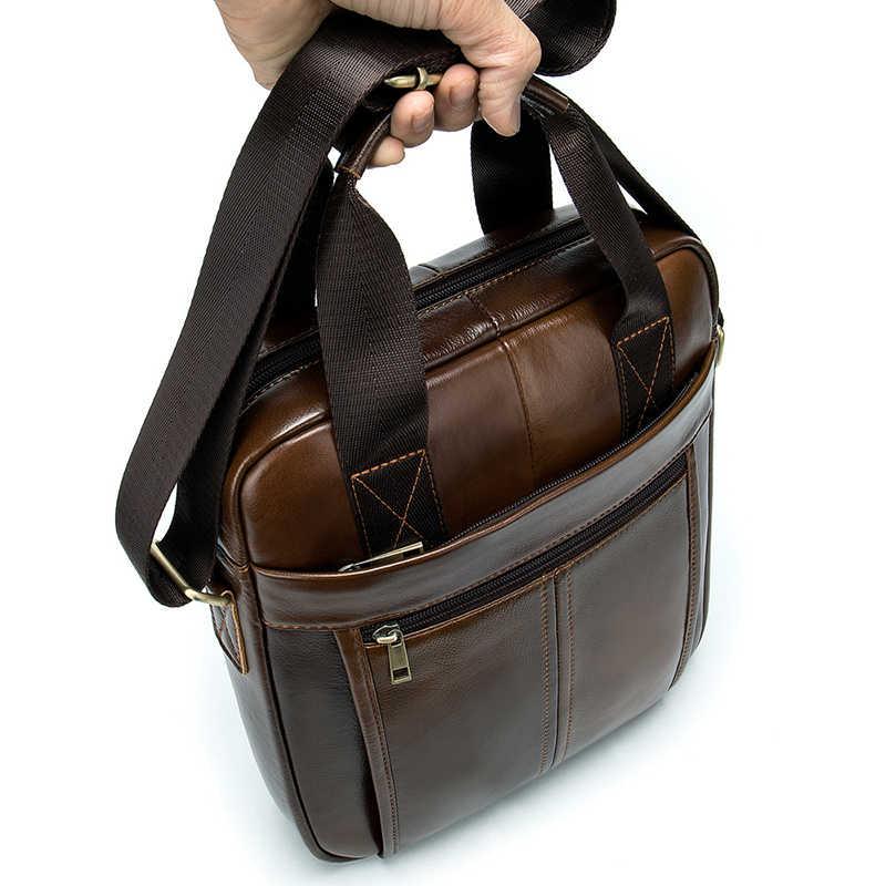 TIANHOO мужские ручные сумки 9,7 дюймов PAD портфель роскошный первый коровья кожа сумки через плечо и сумки через плечо 2019 Новый стиль пакет для мужчин