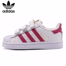 цена Adidas Clover Original Kids Comfortable Skateboarding Shoes Breathable Light Children Sports Sneakers #B23639 онлайн в 2017 году