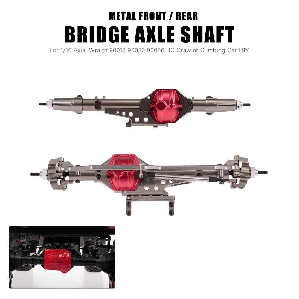 RC Car Front Bridge Axle Rear Axle Shaft Metal for 1 10 Axial Wraith 90018 90020