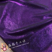 Patchwork Tecidos Silk Fabric 18 The Spring/summer Purple Sky Flash Bronzing Soft Metallic Fabrics Swimsuit Package Hip Skirt