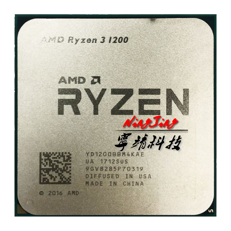 AMD Ryzen 3 1200 R3 1200 3.1 クアッドコアクアッドコアスレッド Cpu プロセッサ YD1200BBM4KAE ソケット AM4  グループ上の パソコン & オフィス からの CPU の中 1