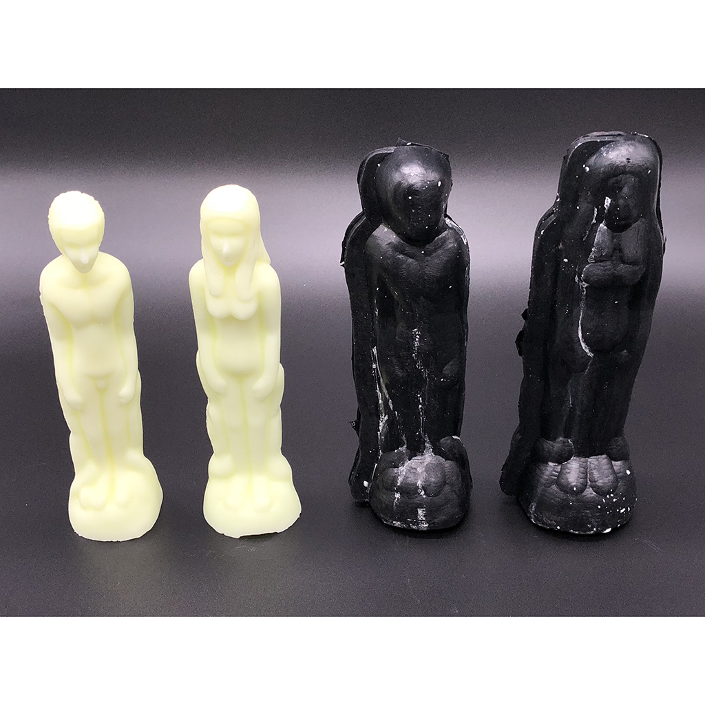 Men Women Shape Candle Making Mould Soap Mold Accessories For Handcraft Ornaments Home Candle Making DIY Crafts 200mm Black