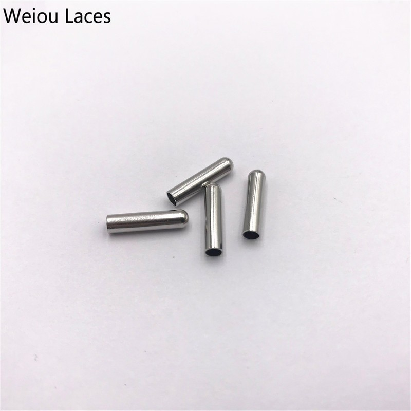 Weiou 4pcs/1Set 3*12.7mm Bullet Metal Aglets For Clothes Accessories Drawstring Shoe Lace Tips Replacement Head For Shoestrings