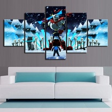 5 Piece Cartoon HD Wall Picture UNDERTALE Game Poster Canvas Art Home Decor