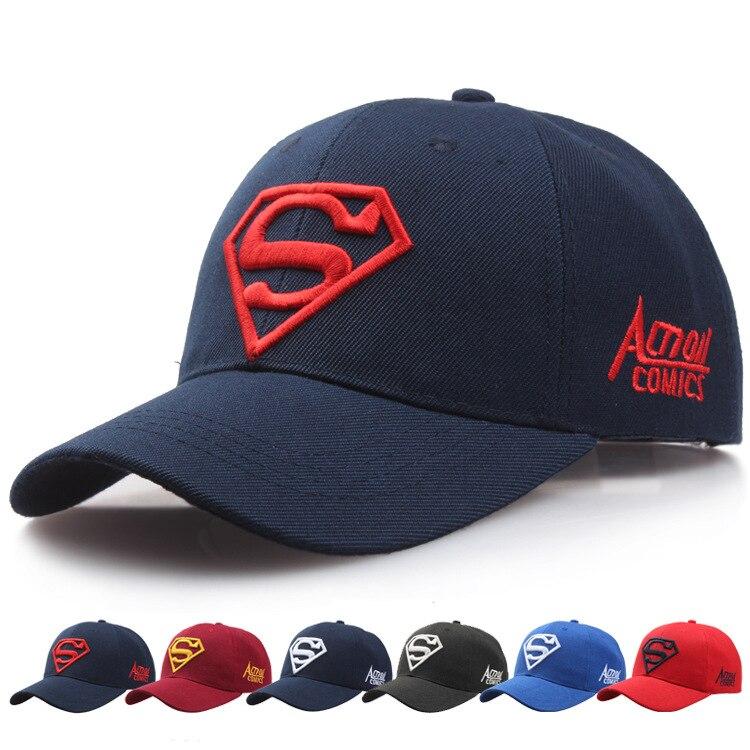 2019 New Letter Superman Embroidery   Cap   Casual Outdoor   Baseball     Caps   Men Sport Hats Women Snapback   Caps   Adult Sun Hat Gorras