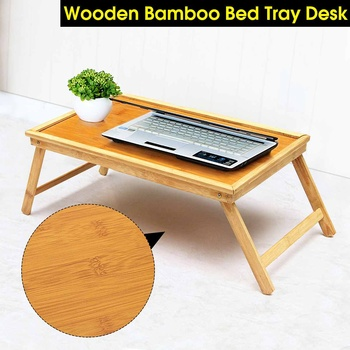 Wooden Bamboo Foldable Bed Tray