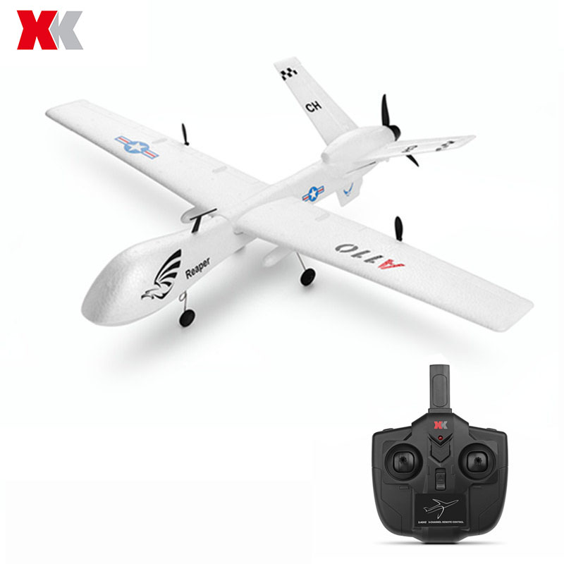 XK A110 Predator MQ-9 EPP 565mm Winspan 2.4G 3CH DIY RC Airplane RTF Built-in Gyro Remote Control Toys Kids Gifts image