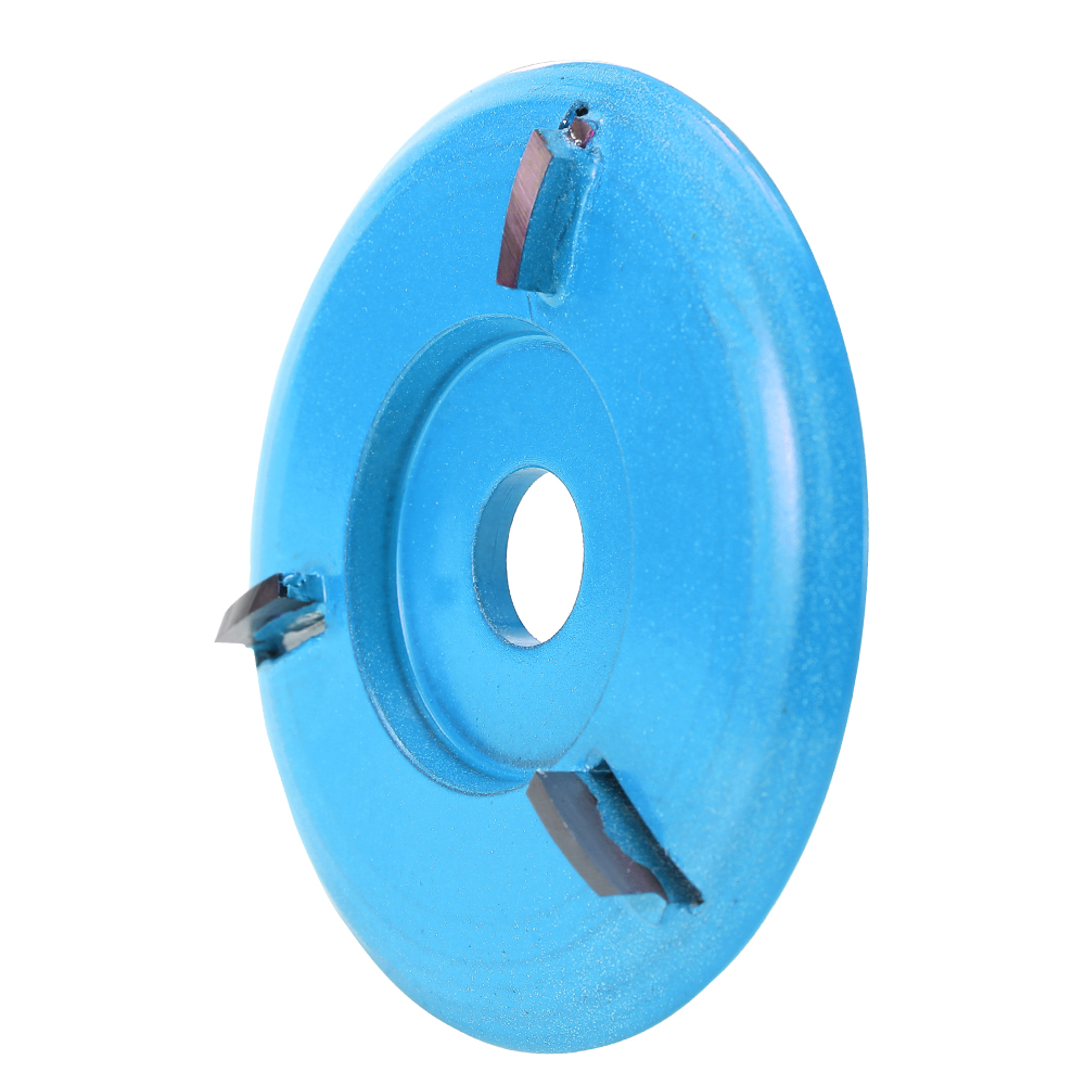 Three Teeth Woodworking Tea Tray Digging Wood Carving Disc Tool Milling Cutter for 16mm Aperture Angle Grinder in Power Tool Accessories from Tools