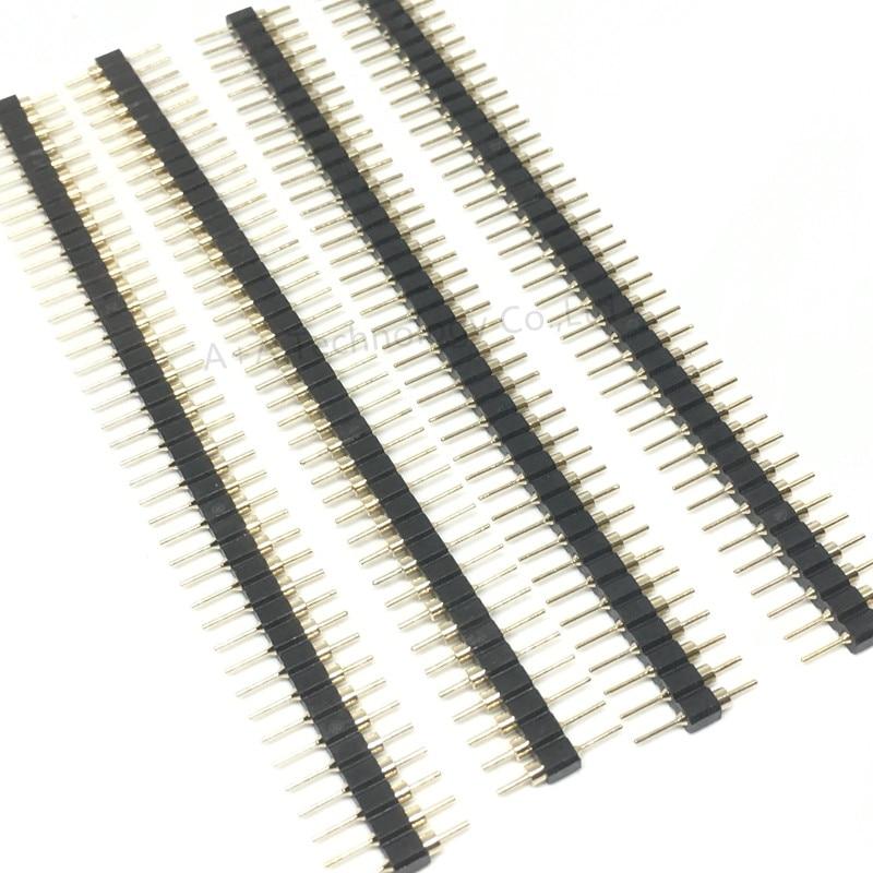 100PCS 1*40 40Pin 2.54mm 19mm Long single row Male Breakable Pin Header NEW