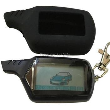 2 voies B9 LCD télécommande porte-clés pour véhicule russe sécurité voiture système d'alarme Twage Starline B9 porte-clés Fob moteur démarrage