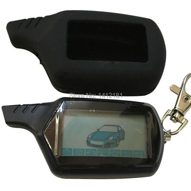 2-forma B9 LCD Control remoto llavero para vehículo ruso de seguridad sistema de alarma del coche de Twage Starline B9 clave de la cadena fob de arranque del motor